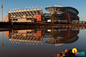 Peter Mokaba Stadium, on Polokwane, South Africa.