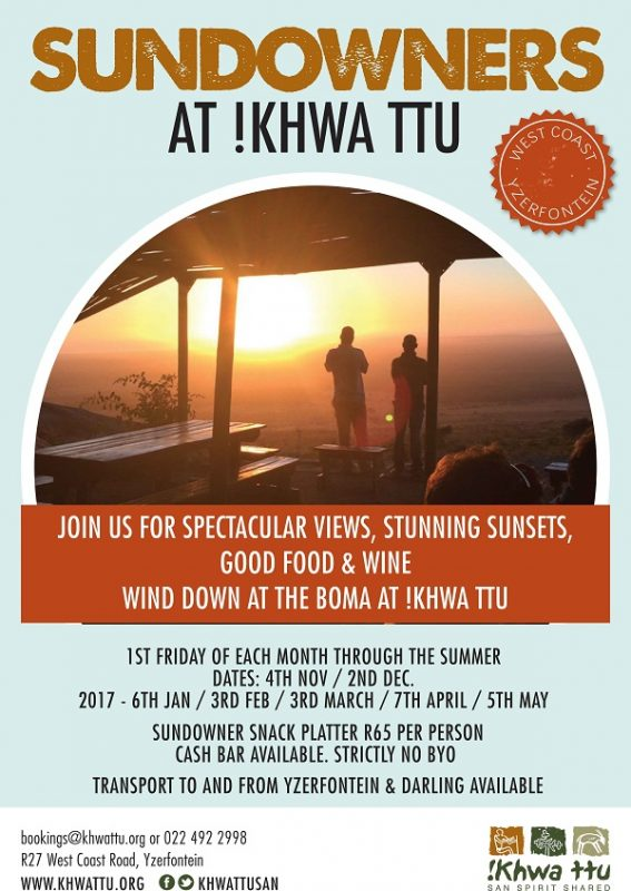Sundowners at !KHWA TTU