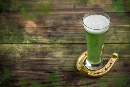 GREEN BEER FOR ST PATRICK'S DAY