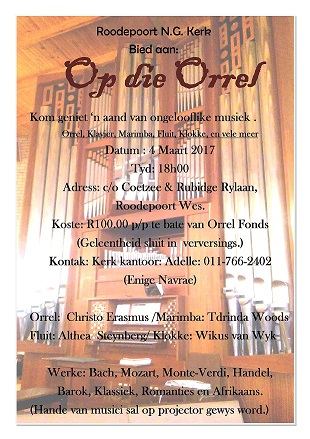 ORGAN CONCERT WITH MARIMBA AND FLUTE