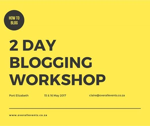 How to set up a blog. 15 May & 16 May 2017