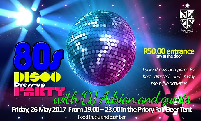 80's Disco Dress Up Party at the Priory Fair