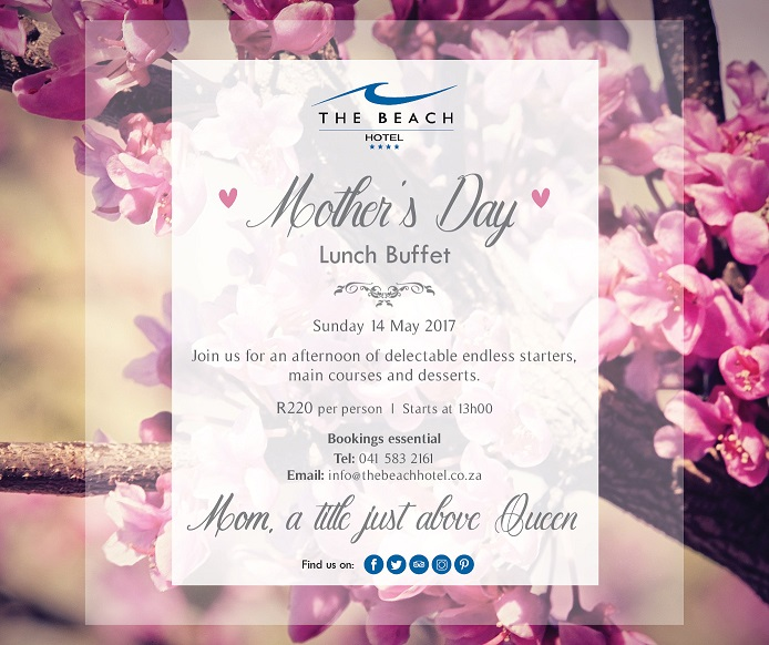 Mother's Day Buffet Lunch at The Beach Hotel