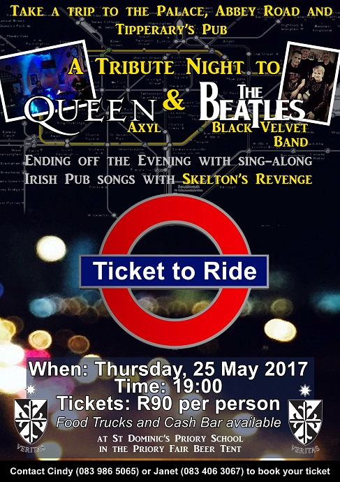 Ticket To Ride Music Tribue and Sing a Long at the Priory Fair