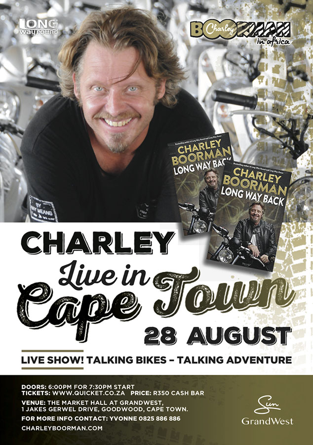 Charley Boorman Live in Cape Town