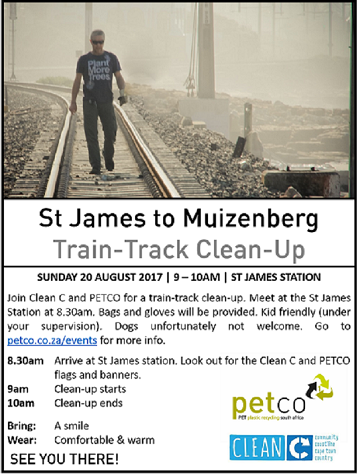 ST JAMES TO MUIZENBERG TRAIN-TRACK CLEAN-UP