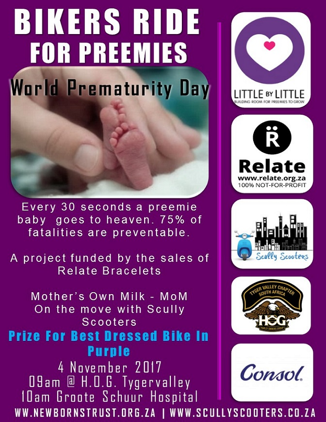 Cape Town bikers take to the roads for amazing new breastmilk feeding project.