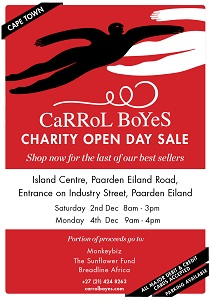 Shop for a good cause at the Annual Carrol Boyes Charity Open Day Sale 2017