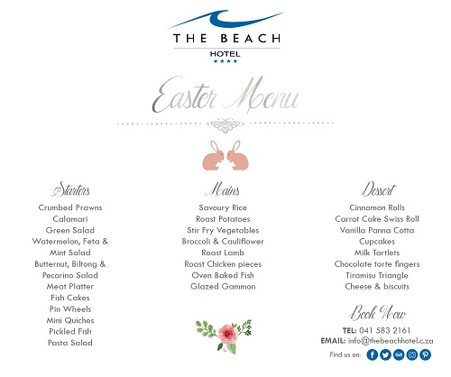 Easter Sunday Lunch at The Beach Hotel