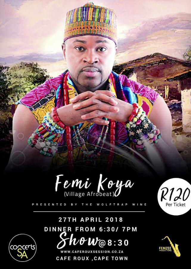 Femi Koya Afrobeat live at the Cafe Roux