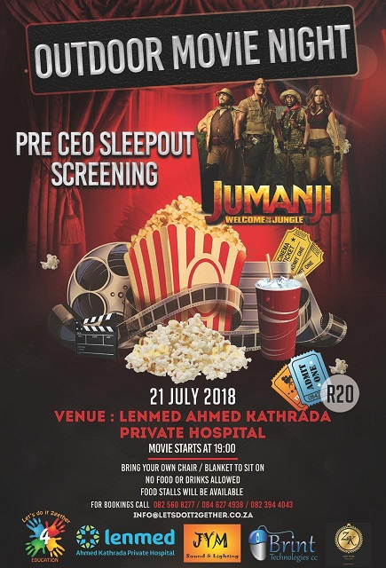 Outdoor Movie Night @ the Nelson Mandela SA SleepOut