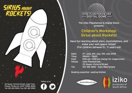 Iziko Planetarium children\'s workshop- Sirius about Rockets!