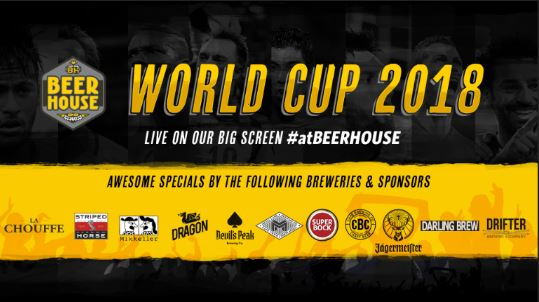 2018 Football World Cup at Beerhouse on Long