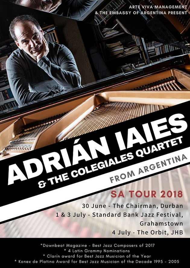 Jazz in the City - Adrián Iaies to tour South Africa