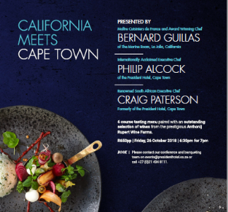 A PREMIUM PAIRING OF ANTHONIJ RUPERT WINES & CULINARY CREATIONS BY THREE ESTEEMED CHEFS