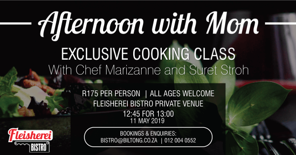 Afternoon with Mom - Exclusive Cooking Class