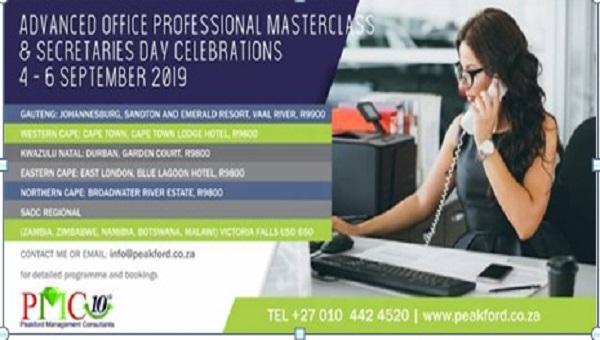 PMC Professional Masterclass And Secretaries Day Celebrations