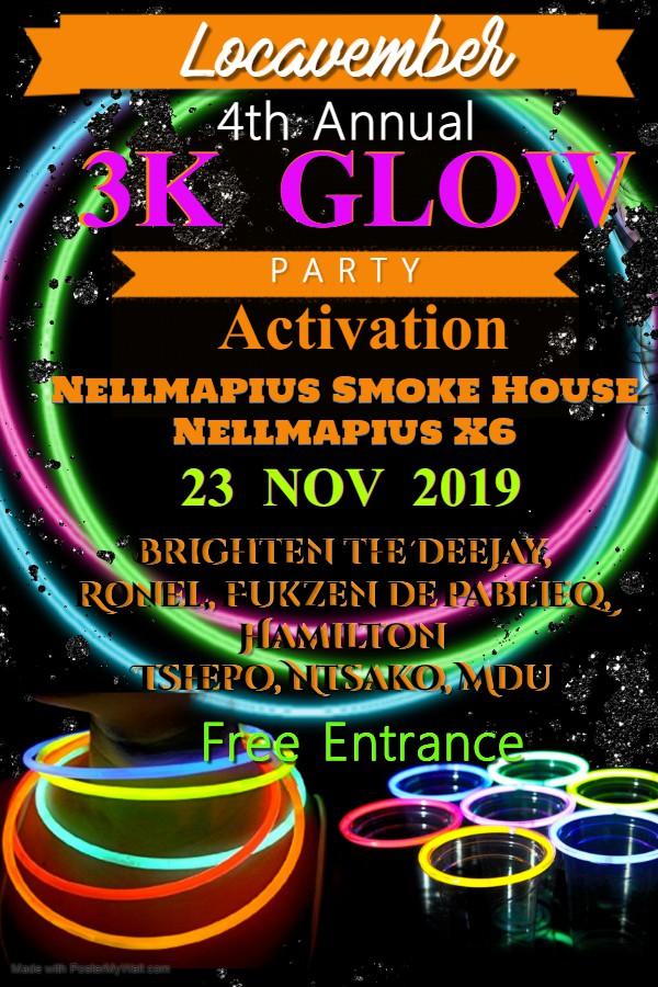 Locavember 3K Glow Party Activaton
